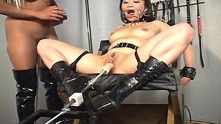 Asian sex slave forced orgasm