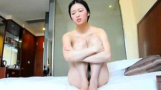 Delightful Korean girl puts her blowjob skills into action