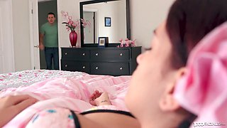 Perverted step brother wakes up Brooke Haze with his hard dick