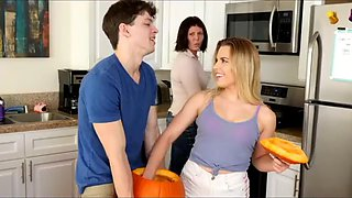 Brother secretly fuck sister behind mom