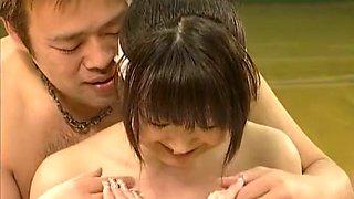 Fabulous Japanese girl Sakura Aoi, Miki Takeuchi, Maho Sawa in Amazing Group Sex, Public JAV movie