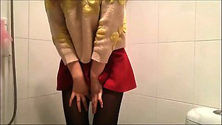 Cute Asian babe in pantyhose gets fucked doggystyle in POV