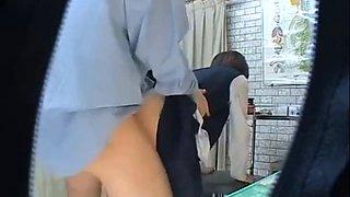 Schoolgirl saved by her doctor