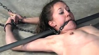 Tied Up Submissive Petite Babe Spanked