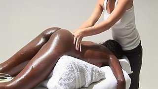 Magic Lesbian Babes Dark Massage with oil - NV