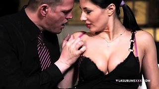 Wife Sofia Cucci seduces another man and gets butt penetrated