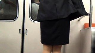 Asian peeing in public toilet