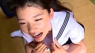 cute japanese girl posing for the camera