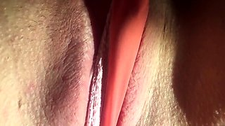 Playing Panties Pussy Big Labia Clit Pull Close Up