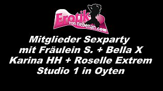 German bbw mother and skinny daughter groupsex party