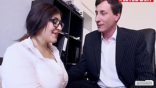 July Johnson - Office Fun With Busty German Babe
