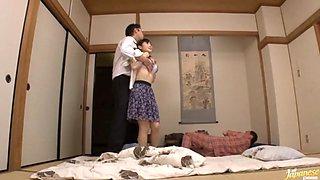 Housewife Yuu Kawakami Fucked Hard While Another Man Watches