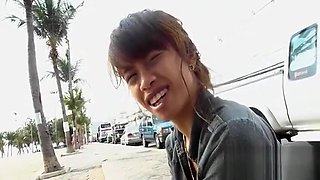 Gorgeous asian babe likes it rough and fucks like a bitch