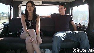 screwing a horny slut in a car segment clip 1
