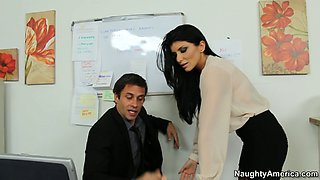Magnificent Romi Rain seduces her boss and gives her pussy