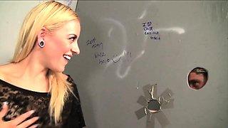 slutty GloryHole scene with Cameron Canada using bathroom