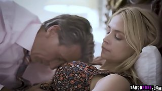 Elena is pregnant because stepdad bargain her to his boss to keep his job
