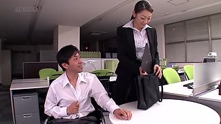 Pretend to be the woman of the insurance Eroticism Mature Woman calls at your office