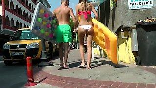 Street voyeur follows a sexy amateur girl with a sweet ass