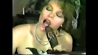 Classic Cuckold Wife Sucks A BBC
