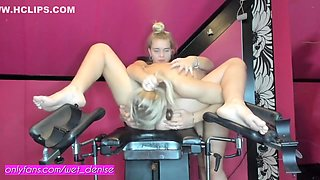 Wet Denise And Siswet Squirt By Playing With Each Other