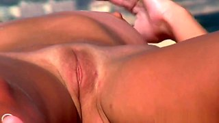 Shaved Big Pussy Lips Cameltoe Nudist Milf Voyeur HD Video