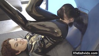 Hot pornstar latex with cumshot