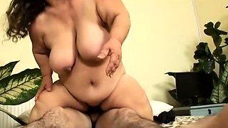 Fat Midget Gets a Hard Cock