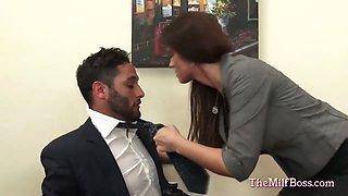 milf boss fucked on her office desk video