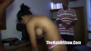 Homegrown DOminican Pair engulfing her wet love button