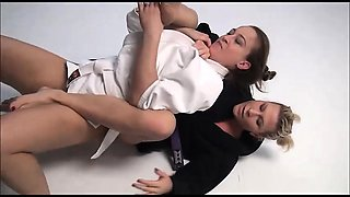 clit facesitting and a rough fuck in Academy Wrestling