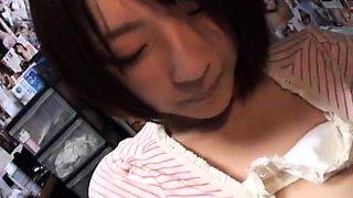 Cute Japanese schoolgirl gets the hard drilling she deserves