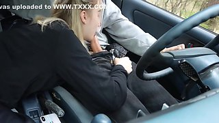 Russian Girl In A Car In A Pose Of Cancer Substitutes Pussy For Vagina