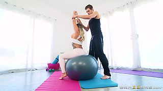 Cali Carter wants the usual out of her yoga teacher - hot jizz