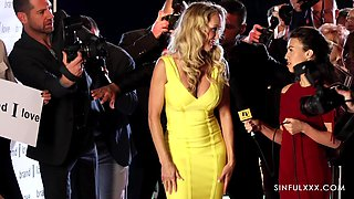 Fucking awesome adult model Brandi Love on the red carpet