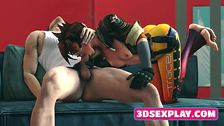 Girlfriends from 3D Games Gets a Nice Pounding from Behind