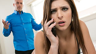 Leah Gotti begs her father to fuck her hard