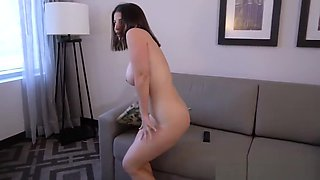 Son helping out his horny mom after peeping on her masturbate