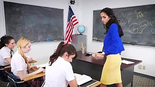 Lesbian anal punishment squirt After School Detention