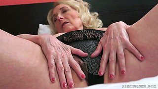 Lusty granny with big saggy tits Sila  banged well by her buddy