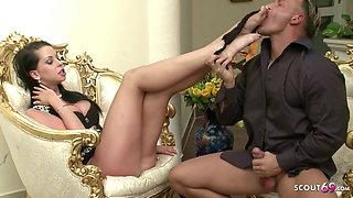 Hottest MILF Boss Larissa Seduce Candidate to Fuck her