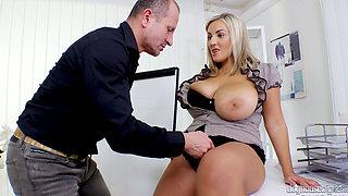 Krystal Swift gets her big tits fucked hard