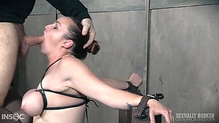 bound babe takes my cock