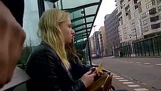 Flashing my dick in public bus stop