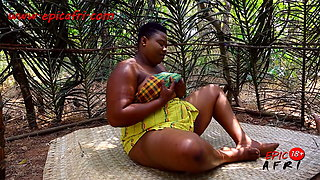 Lonely ebony wife sneaks out to masturbate (trailer)