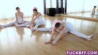 Ballerina teens get fucked by their new slick teacher