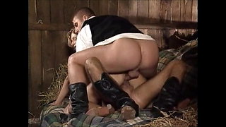 Farmer Girl fuck 2 guys