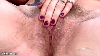Apricot Pitts Strips To Masturbate And Orgasms With Vibrator