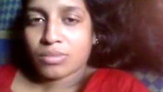 Red Sari Aunty Boobs Pressed