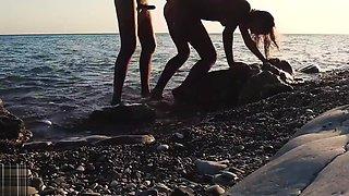 Russian Girl Sasha Bikeyeva - &nbsp Stunning nudist teases on camera, gets fucked and sucks a tourist on the beach